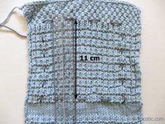 Comment mesurer cet échantillon qu'on s'est donné le mal de tricoter   Tricotic