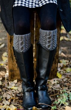 Savannah Boot Liners PDF knitting pattern from Pam Powers Knits