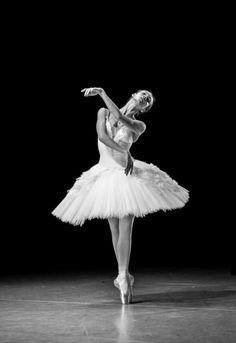 Olga Smirnova rehearsing The Dying Swan. Photo by Jack Devant