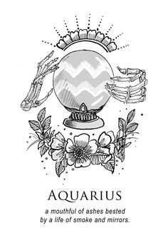 Aquarius - Shitty Horoscopes Book VII: Magick by musterni Aquarius Art, Aquarius Tattoo, Astrology Aquarius, Age Of Aquarius, Dark Astrology, Scorpio, Le Zodiac, Zodiac Art, Zodiac Signs