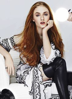 Sophie Turner, photographed by Rachell Smith for Glamour Mexico, July 2015.