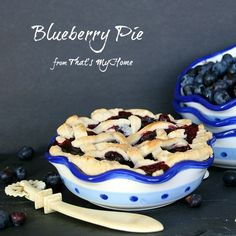 Fresh picked blueberries make the best blueberry pies, these little pies are perfect single serving sizes. Best Dessert Recipes, Fruit Recipes, Pie Recipes, Easy Desserts, Blueberry Trifle, Blueberry Recipes, Yummy Treats, Sweet Treats, Best Pie