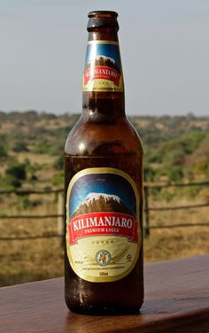 A reward at the top of Kilimanjaro - Premium Lager, Tanzania Tanzania, Zimbabwe Africa, Mount Kenya, Mount Kilimanjaro, Beers Of The World, Most Romantic Places, Beer Brands, Natural Preservatives, East Africa