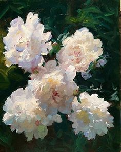 "Sunburst Paeonia by Dennis Perrin Oil ~ 20"" x 16"""