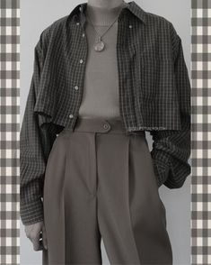 Adrette Outfits, Teen Fashion Outfits, Retro Outfits, Grunge Outfits, Cute Casual Outfits, Vintage Outfits, Modest Fashion, Fashion Pants, Plaid Fashion