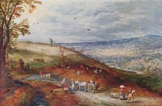 Jan (Velvet) Brueghel the Elder - Landscape with windmill. Ян (Бархатный) Брейгель Старший - Пейзаж с ветряной мельницей