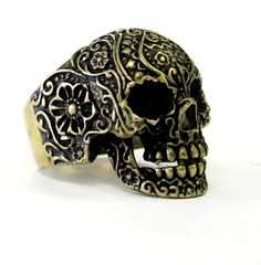 Bronze Skull King SAMCRO Baby Sons of Anarchy Keith Richards Chrome Hearts Ring | eBay