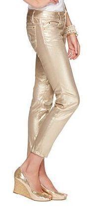 Lilly Pulitzer Fall '13- Worth Skinny Mini in Gold Metallic