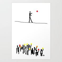 we believe in circles  Art Print by sladja - $17.68