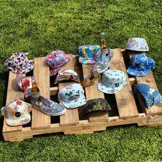 stacks of hula hats. #aloha #trucker