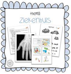 Kleuterjuf in een kleuterklas: Kaarten voor in de ziekenhuishoek | Thema 112 ZIEKENHUIS