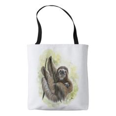 Love swans matron of honor large tote bag baby sloth tote bag negle Choice Image