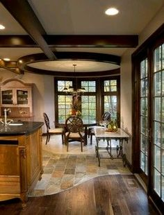 40 Best Kitchen Flooring Inspiration - Your cooking area is the pounding centre of your home, so picking the ideal cooking area flooring i - Floor Design, Tile Design, House Design, Home Renovation, Home Remodeling, Kitchen Remodeling, Transition Flooring, Tile To Wood Transition, Dark Wood Floors