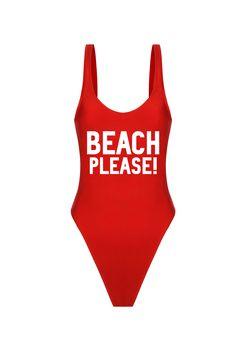Simple For You Swimwear - Spring/Summer 2016 - Beach Please! (Red) #simpleforyou #swimwear #summer #yaz #motto #beachplease #slogan #mayo #baywatch