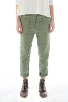 Our take on the vintage army pants you have always wanted to own.  Made from the softest japanese twill and cut relaxed but flattering.  This pant is meant to b