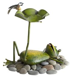 Our Frog Birdbath is a fun gift for dads with green thumbs