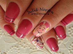 Piglet 3 by Stoneycute1 - Nail Art Gallery nailartgallery.nailsmag.com by Nails Magazine www.nailsmag.com #nailart