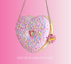 A crossbody bag in a saddle-bag silhouette gives any outfit a look as cute as the bag. Unique Handbags, Luxury Handbags, Purses And Handbags, Prada Handbags, Rainbow Donut, Kawaii Bags, Mode Kpop, New Heart, Heart Art