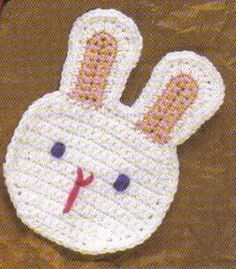 free crochet rabbit coaster patterns - Google Search