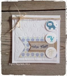 Ingrid's scrapfrutsels: Babykaartje - CAS stijl