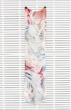 Long Scarf | Nancybird Long Scarf, Textile Prints, Shibori, Surface Design, Scarves, Coral, Design Inspiration, Pattern, Bird