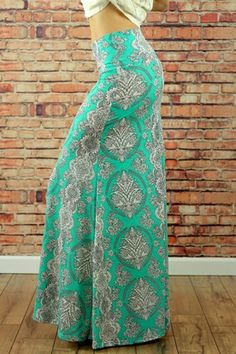 Mint Vintage Pattern Maxi Skirt $31  http://www.nanamacs.com/mint-vintage-pattern-maxi-skirt/