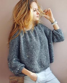 Style Inspiration Outfits Cardigans Ideas For 2019 Pull Gris, Make Your Own Dress, Moda Casual, Knit Fashion, Knitting Designs, Baby Knitting, Knitwear, Knitting Patterns, Knit Crochet