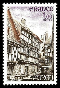 Auray Monuments, France 1, Old Newspaper, Stamp Collecting, Postage Stamps, Around The Worlds, Poster, Zoom, Lettering