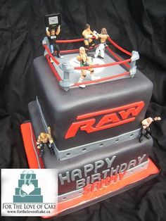 wwe boys birthday cake by www.fortheloveofc..., via   http://deliciouscakecollections.blogspot.com