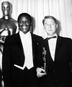 "1968 Oscars: Sidney Poitier & Mike Nichols, Best Director 1967 for ""The Graduate"""