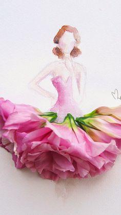 2c6fcc3feb5 Watercolor Pencil Art, Learn To Draw, Woman Drawing, Flower Art, Art Flowers,  Disney Characters, Fictional Characters, Female Art, Illustration