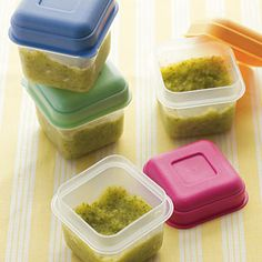 Homemade Baby Food Storage - Cooking Light