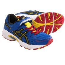 Asics Pre-Excite PS Running Shoes (For Kids and Youth) in Hot Pink/White/Sun Yellow - Closeouts