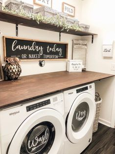 homedecor farmhouse Wash and Dry Vinyl Sticker laundry room decor washer and dryer decor washer and dryer labels Tiny Laundry Rooms, Laundry Room Layouts, Laundry Room Remodel, Laundry Decor, Laundry Room Signs, Farmhouse Laundry Room, Laundry Room Organization, Organization Ideas, Basement Laundry