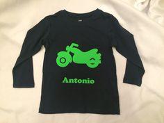 """Shirt mit Druck """"Motorrad""""  von Schnullidudi auf DaWanda.com"""