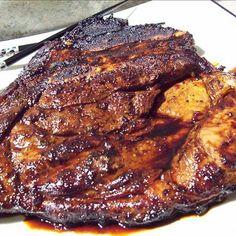 grilled pork steaks Asian Pork Steaks (marinade) With Pork Steaks, Teriyaki Marinade, Low Sodium Soy Sauce, Garlic, Green Onion Grilled Pork Steaks, Steak Marinade Recipes, Grilling Recipes, Pork Recipes, Asian Recipes, Cooking Recipes, Steak Marinades, Teriyaki Marinade, Pork Shoulder Steak