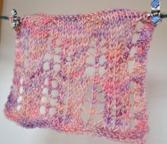 Swatching for a new design with Araucania Botany Lace  More http://makedoandmendnovice.blogspot.com/2014/07/a-new-pattern-for-araucania-botany-lace.html