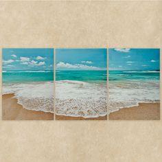 Ocean Triptych Canvas Wall Art Multi Cool Set of Three