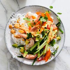 """Shrimp Summer """"Roll"""" Salad"""