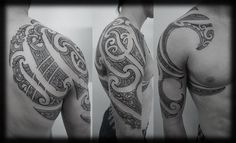 Custom New Zealand Maori Ta Moko Kirituhi Pacific Tribal Half Sleeve with Chest and Full Shoulder Blade Tattoo Design_tattoo gallery Maori Tattoos, Ta Moko Tattoo, Kunst Tattoos, Maori Tattoo Designs, Owl Tattoo Design, Tribal Tattoos, Tatoos, Polynesian Tattoos, Chest Tattoo