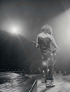 In the light: Jimmy Page live on the North American Tour, 1975.