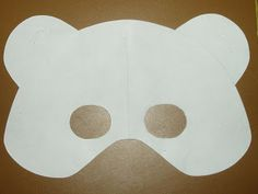 polar bear mask template - kids can decorate according to bear they are researching Polar Bear Party, Teddy Bear Party, Polar Bears, Vbs Crafts, Preschool Crafts, Preschool Learning, Felt Crafts, Teddy Bear Template, Artic Animals