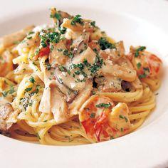 エリンギとえびのクリームスパゲッティ | 片岡護さんのパスタの料理レシピ | プロの簡単料理レシピはレタスクラブネット