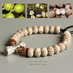 Handmade Mala With Natural Bodhi Seeds And Vajra Bell