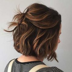 34 stunning examples of short brown hair highlights short brown hair . - 34 stunning examples of short brown hair highlights short brown hair highlights hairstyles - Brown Hair Balayage, Hair Color Balayage, Caramel Balayage Bob, Ombre Hair, Balayage Bob Brunette, Short Balayage, Caramel Blonde, Hair Lengths, New Hair