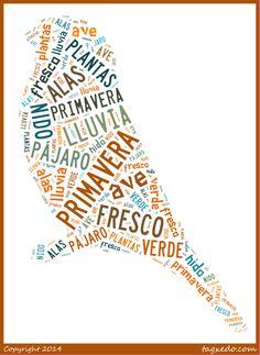Spanish spring word cloud