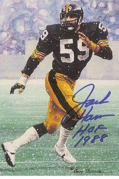 bef7a470b Autographed Hand Signed Goal Line Art Gla Card Jack Ham Steelers - of fame  memorabilia deal coupon