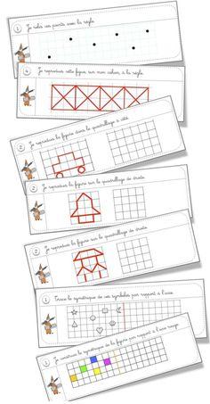 *plenty of mats/geometry printables here Math Games, Learning Activities, Kids Learning, Math Patterns, Montessori Math, Kindergarten Lesson Plans, Elementary Schools, Preschool, Teaching