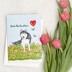 Greeting card husky malamute Glitter Birthday Mothers day   Etsy Mother Gifts, Mothers, Glitter Birthday, Dog Mom Gifts, Cellophane Bags, Green Glitter, Birthday Greeting Cards, Picture Design, Dog Design