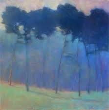 """Ken Elliott """"Soft Blue Progressions"""", pastel (available as limited edition giclee print) Cover of his new coffee table book and you can . Pastel Landscape, Abstract Landscape Painting, Landscape Art, Landscape Paintings, Pastel Art, Pastel Paintings, Horse Paintings, Tree Art, Painting Inspiration"""